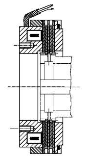 Многодисковый электромагнитный тормоз LCBW50