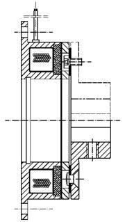 Однодисковый электромагнитный тормоз MCB1.5