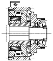Зубчатые электромагнитные  муфты с пружинным замыканием MZOUL1000